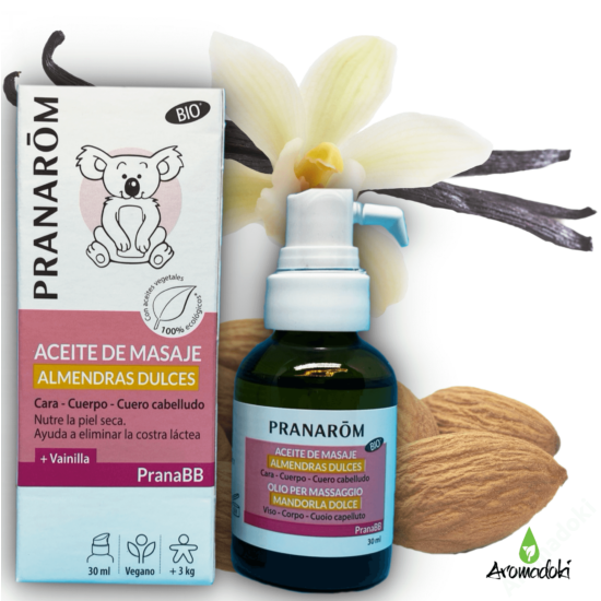 PranaBB édesmandula masszás olaj vaníliával babáknak (207)